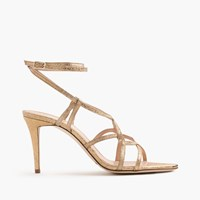 J.Crew Metallic Cross Strap Sandals Metallic Gold