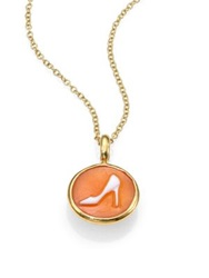 Ippolita Shell Cameo And 18K Yellow Gold Pump Charm