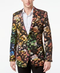 Tallia Men's Metallic Floral Blazer Black