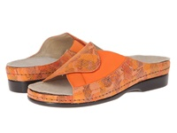 Helle Comfort Tamra Orange Multi Women's Slide Shoes