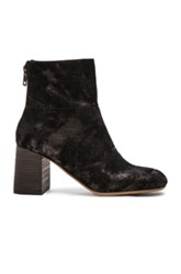 See By Chloe Suede Mila Booties In Black Metallics Black Metallics