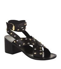 Maje Fiona Studded Sandals Female Black