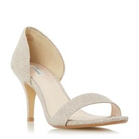Linea Maralin Two Part Mid Heel Sandals Gold
