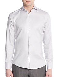 J. Lindeberg Regular Fit Corkz Sand Cotton Sportshirt Light Grey