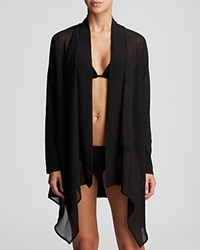 Tommy Bahama Knit And Chiffon Cardigan Swim Cover Up