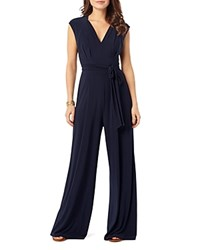 Phase Eight Penn Belted Jersey Jumpsuit Navy
