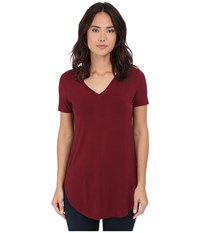 Culture Phit Preslie Cap Sleeve Modal V Neck Top Wine Women's Clothing Burgundy