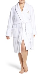 Lauren Ralph Lauren Plus Size Women's Short Robe White