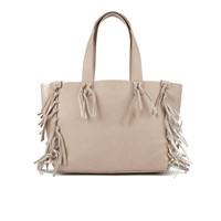Ugg Australia Women's Lea Leather Fringed Tote Bag Taupe