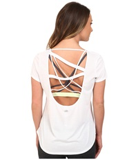 Alo Yoga Draft Short Sleeve Top White Women's Clothing