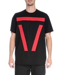 Givenchy Bar Graphic Short Sleeve Tee Black Red