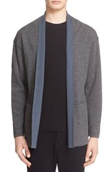Tomorrowland Men's Double Face Wool Shawl Cardigan