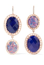 Andrea Fohrman 18 Karat Rose Gold Multi Stone Earrings