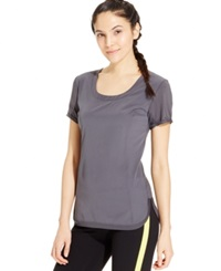 Calvin Klein Performance Racerback Tee Charcoal