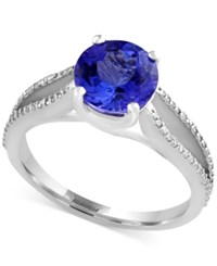Effy Final Call Tanzanite 1 9 10 Ct. T.W. And Diamond 1 5 Ct. T.W. Ring In 14K White Gold