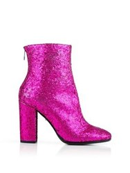 Just Cavalli Glitter Heeled Ankle Boot Pink