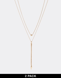 Weekday Klick Two Pack Necklace