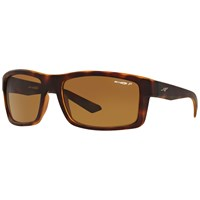 Arnette An4216 Corner Man Polarised Rectangular Sunglasses Havana