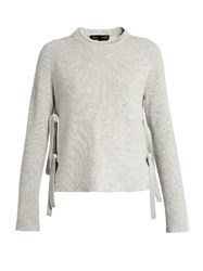 Proenza Schouler Wool And Cashmere Blend Sweater Light Grey