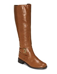 Aerosoles Withpride Faux Leather Boots Tan