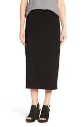 Eileen Fisher Women's Jersey Straight Midi Skirt