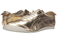 Onitsuka Tiger By Asics Mexico 66 Gold Gold Lace Up Casual Shoes