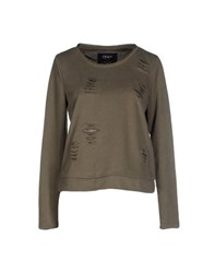 Only Topwear Sweatshirts Women Military Green