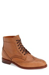 Crosby Square Men's 'Knightsbridge' Wingtip Boot Tobacco Leather