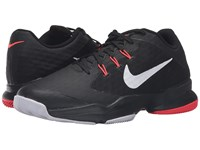 Nike Air Zoom Ultra Black Bright Crimson Metallic Silver Men's Tennis Shoes