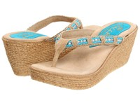 Sbicca Cora Turquoise Women's Sandals Blue