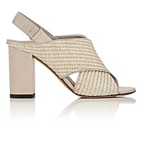 Vince. Women's Faine Straw And Leather Sandals Nude