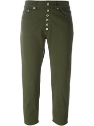 Dondup Buttoned Fly Trousers Green