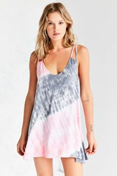 Ecote Sheena Tie Dye Tunic Top Blue Multi