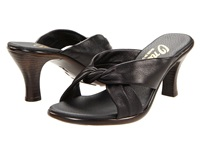 Onex Modest Black Leather Women's Dress Sandals