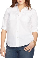 Plus Size Women's Lauren Ralph Lauren Long Sleeve Cotton Tunic White