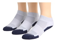 Wrightsock Dl Fuel Lo 3 Pair Light Grey Navy Low Cut Socks Shoes Gray