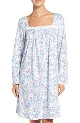 Eileen West Women's Long Sleeve Cotton Nightgown Multi Floral