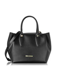 Francesco Biasia Alicia Black Leather Tote Bag W Wool Lining