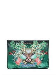 Manish Arora Embellished And Printed Leather Pouch