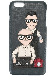 Dolce And Gabbana Designers Patch Iphone 6 Plus Case Black