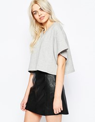 The Fifth In Between Days Crop T Shirt Grey Marble