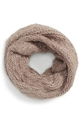 Vince Camuto 'Thick Thin' Knit Infinity Scarf Brown