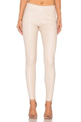 Mlml Leather Seamed Legging Beige