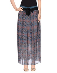 Pinko Grey Long Skirts