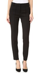 Tibi Mid Rise Tailored Ponte Skinny Pants Black