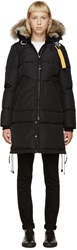 Parajumpers Black Fur Long Bear Coat