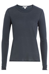 James Perse Long Sleeved Cotton Top Blue