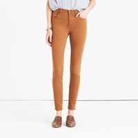 Madewell 9 High Rise Skinny Jeans Garment Dyed Edition