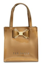 Ted Baker London 'Small Glitter Bow Icon' Tote Metallic Gold Color