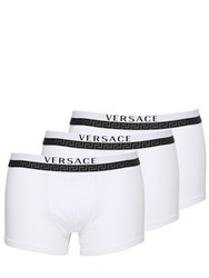 Versace 3 Pack Stretch Cotton Jersey Boxer Brief